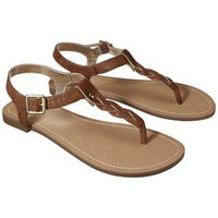 Women&#x27;s Merona Erin Braided Upper Sandal - Cognac