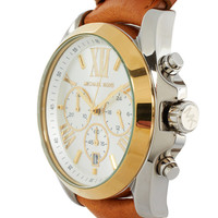 Michael Kors Exclusive to ASOS Chronograph Leather Strap Watch