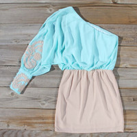 Captivated Asymmetrical Dress in Mint, Sweet Women's Party Dresses