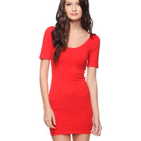 Fitted Scoop Neck Dress | FOREVER 21 - 2000016018