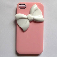bow iphone 4s case - handmade iphone 5 case, iphone 4 cases, iphone cover case, iphone 5 case 4s