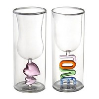 Love&Heart Double-walled Glasses For Lovers