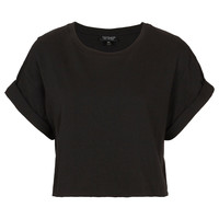 Roll Back Crop Tee - Edited - New In - Topshop