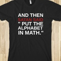 PUT THE ALPHABET IN MATH - Get in my Closet