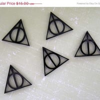 BOGO Blowout Sale Deathly Hallows Harry Potter Mini Charms Black Acrylic FREE SHIPPING