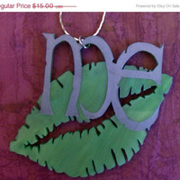 BOGO Blowout Sale KISS ME I&#x27;M Irish - Green Acrylic Statement Necklace