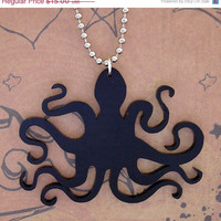 BOGO Blowout Sale Black Octopus necklace Free Shipping