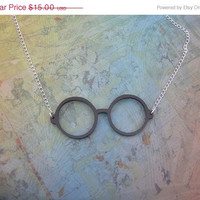 BOGO Blowout Sale Harry Potter  Eye Glasses Necklace  Black Acrylic FREE SHIPPING