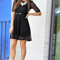 Call Me Audrey Dress: Black Lace | Hope&#x27;s