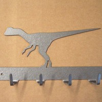 Raptor Dinosaur Keyrack by KnobCreekMetalArts on Etsy