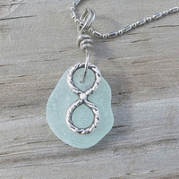 Infinity Sea Glass Necklace