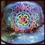 Space Junk, Galaxy Flat Brim // CUSTOMIZABLE // UV/blacklight // Glow in the Dark