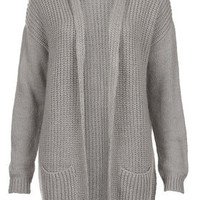 Knitted Mix Tension Cardi - Knitwear  - Clothing