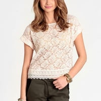 True Harmony Lace Top - $29.00 : ThreadSence, Women's Indie & Bohemian Clothing, Dresses, & Accessories