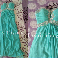 2013 style Glamorous Strapless Prom Dresses/Graduation Dresses from fashionforgirls