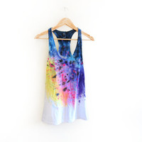 The Original Splash Dyed Hand PAINTED Scoop Neck by twostringjane