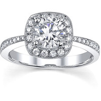 18k Gold 1 1/3ct TDW Diamond Engagement Ring | Overstock.com