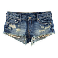 H&M - Denim Shorts - Denim blue - Ladies