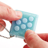 Electronic Bubble Wrap Keychain Instant Joy Pop It 'till You Drop it
