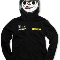 Neff Boys SGT Suckerface Black Full Zip Face Mask Hoodie at Zumiez