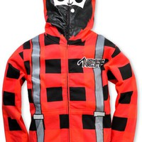 Neff Boys Lumberjack Red Full Zip Face Mask Hoodie at Zumiez