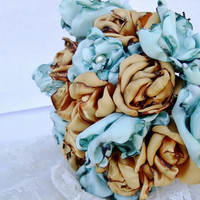 Wedding Bouquet, Vintage Shabby Chic inspired, made to order