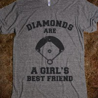 Diamonds are a Girls Best Friend (vintage athletic) - Hard Ball