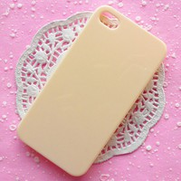 iPhone Case iPhone 4 Case iPhone 4S Case Decoden Cream White Ivory