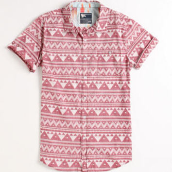 Modern Amusement Great Pyramids Printed Short Sleeve Woven Shirt Mens