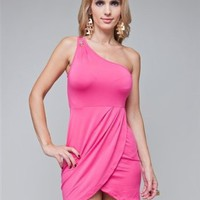 Amazon.com: G2 Chic Sexy One Shoulder Gemstone Detailed Fitted Nightout Dress: Clothing