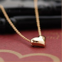 peace symbol heart-shaped necklace