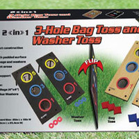 Washer Toss &amp; Bean Bag Toss Lawn Games Combo