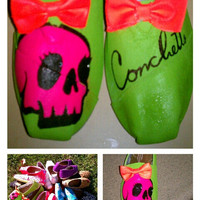 Hand Painted Toms kawaii StyleConchetts logo by conchetts on Etsy