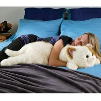 Amazon.com: Super-Soft Cuddly Cat Body Pillow, in Black: Home &amp; Kitchen