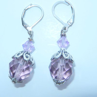 Lavender and Violet Earrings