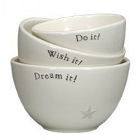 SMALL BOWL SET - CLASSIC POTTERY/Inspirational Designs