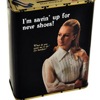 I'm Saving Up for New Shoes Tin Bank | Unique Gifts | RetroPlanet.com