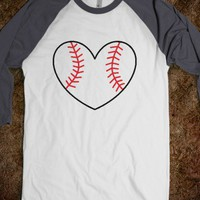 Baseball Love MLB Heart - Softball (gray)