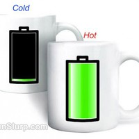 Battery Morph Mug | FunSlurp.com