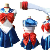 G33 Sailor Moon Costume Cosplay Uniform Fancy Dress Up Sailormoon Outfit &amp; Glove