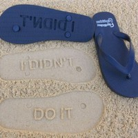 I Didn't Do IT Flip Flops by Flipside Flip Flops