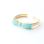 Mint Bow Ring. Adjustable Ring. Ribbon. Stackable Ring. Simple. Everyday Jewelry. Color Block.