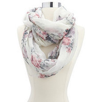 Girly Floral Lightweight Infinity Scarf: Charlotte Russe