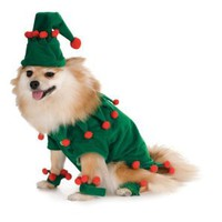 Elf Dog Costume Size Medium: Clothing
