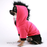 Dog Clothes SMALL Mohawk Hot Pink fleece Dog by PetitDogApparel