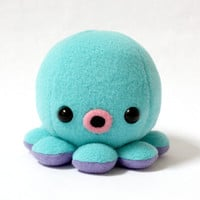 Baby Octopus Plush in Aqua Blue