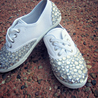 Handmade Rhinestone Sneakers by MermaidGlitterDesign on Etsy