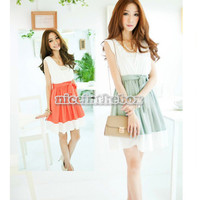 Fashion Women Spring And Summer Beautiful V Vest Dress Match Chatelaine New N98B