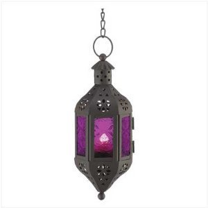 Amazon.com: Purple Moroccan Candle Lantern: Home & Kitchen