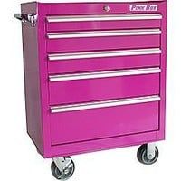 The Original Pink Box 27'' 5-Drawer Rolling Tool Chest | Shop home_organizing,cleaning, home | Kaboodle